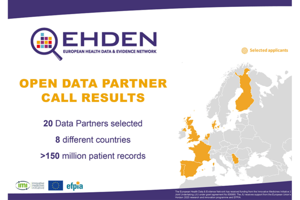 Results of the first EHDEN open call for data partners