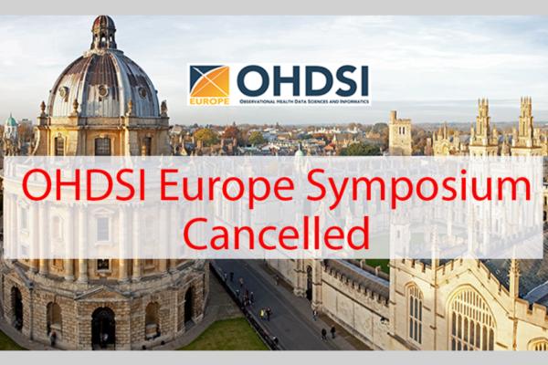 EU OHDSI 2020 Symposium cancelled!