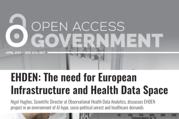 EHDEN is featured in Open Access Government
