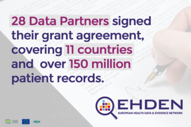 EHDEN now working with 28 Data Partners across 11 countries to harmonise clinical data across therapeutic areas including COVID-19