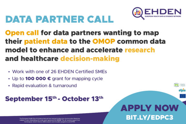 Launch of our 3rd open call for data partners