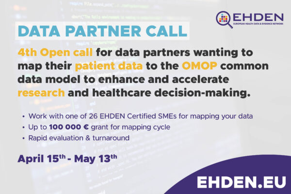 Launch of our 4th, largest, open call for data partners to map to OMOP CDM