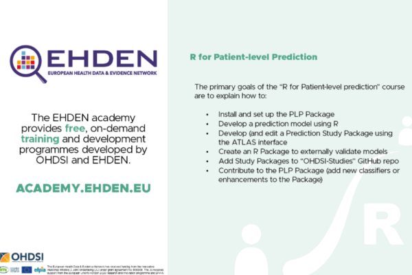 New Academy course now available: Using R for Patient-level Prediction